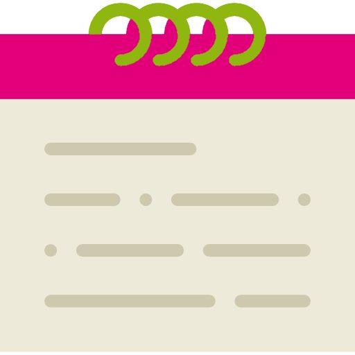 AMCO BTP - Icône calendrier couleur